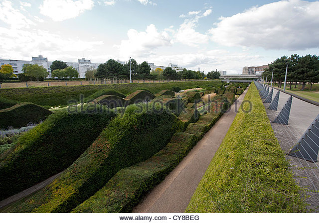 Thames Barrier Park, Silvertown, London. The Park Was Opened In 1982   Stock