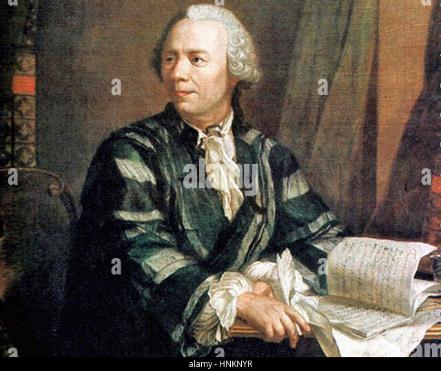 a biography of swiss mathematician leonhard euler Leonhard euler, the influential swiss mathematician, has had the 306th anniversary of his birth honoured by a google doodle photograph: google photograph: kunstmuseum basel/wikimedia commons i.