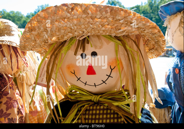 halloween decorations in maggie valley north carolina usa stock image