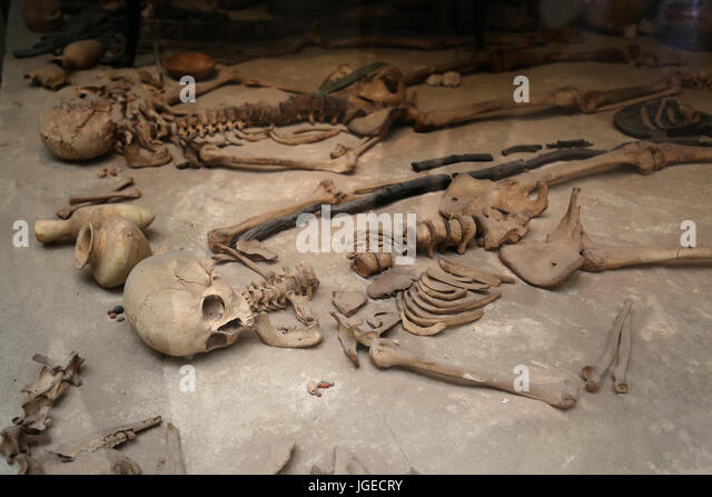 The Jericho Tomb P19. Reconstructed. Early Bronze Age IV period. Palestine. British Museum. London. - Stock Image