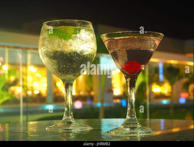 Alcoholic cocktails - Stock Image