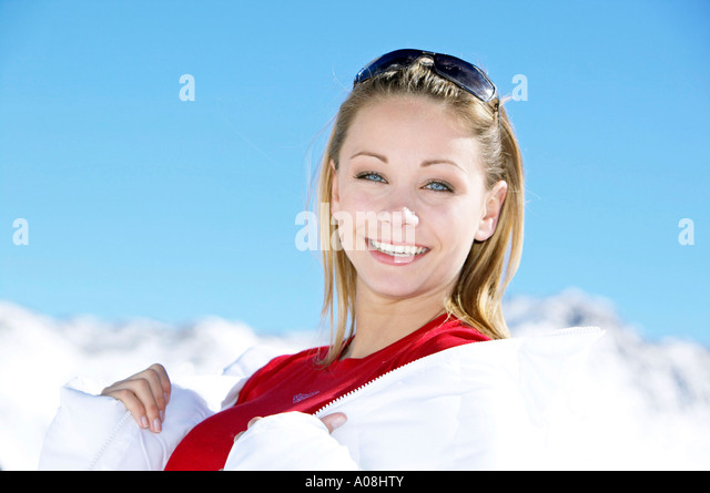 woman sunbathing in snow stock photos woman sunbathing in snow stock images alamy. Black Bedroom Furniture Sets. Home Design Ideas