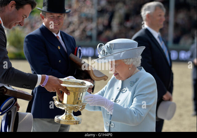 The Royal Windsor Horse Show At Home Park Private Castle UK HRH Queen Elizabeth Presents