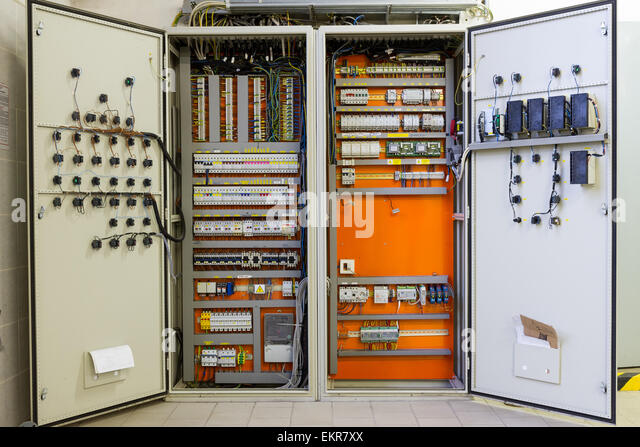 electricity distribution box with wires circuit breakers and fuse ekr7xx electric fuse box cupboard bad fuse box in homes \u2022 wiring diagrams decorative fuse box covers for home at edmiracle.co