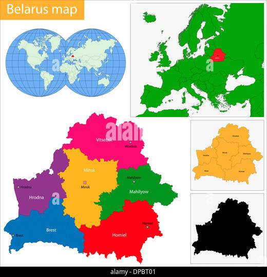 Brest Belarus Europe Map Stock Photos Brest Belarus Europe Map