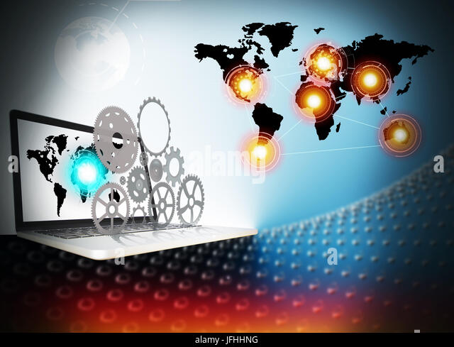 Technology of business connexion - Stock Image