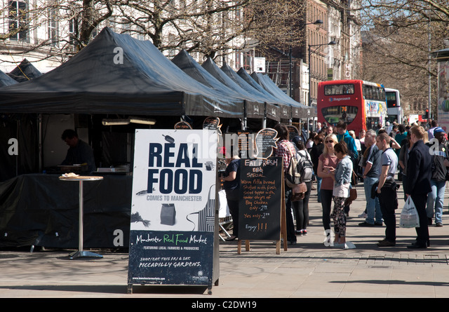 Manchester Food Market Piccadilly Gardens