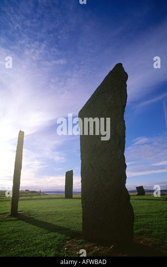 Prehistoric Sites Stock Photos  amp  Prehistoric Sites Stock Images     Alamy The Standing Stones of Stenness dating from     BC  Orkney Isles  Scotland   Stock Image