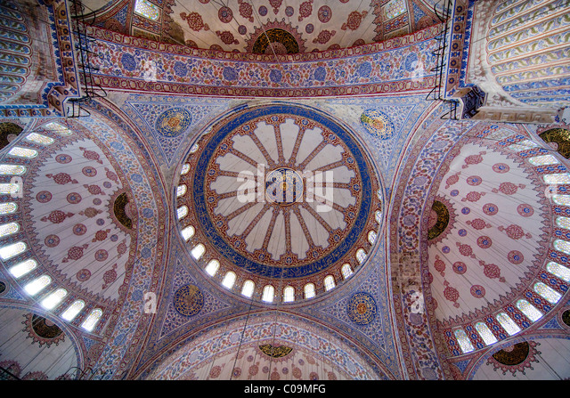 Vaulted roof Sultan Ahmed Mosque Sultanahmet Camii or Blue Mosque Istanbul Turkey : vaulted roofs - memphite.com
