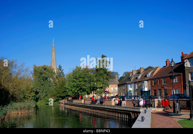Restaurants Along The River Great Ouse Near Ely Uk