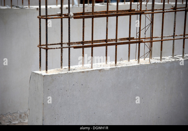 Reinforced Concrete Wall Stock Photos & Reinforced