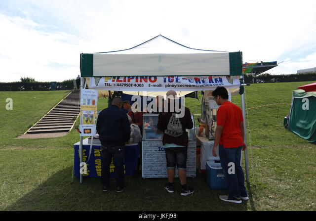 Milton Keynes 23rd July 2017. The Milton Keynes fiesta is the UKu0027s second  sc 1 st  Alamy & Barong Tagalog Stock Photos u0026 Barong Tagalog Stock Images - Alamy