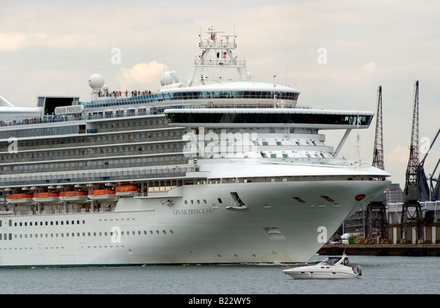 Large Cruise Ship Passing Under Stock Photos Large Cruise Ship - How heavy is a cruise ship