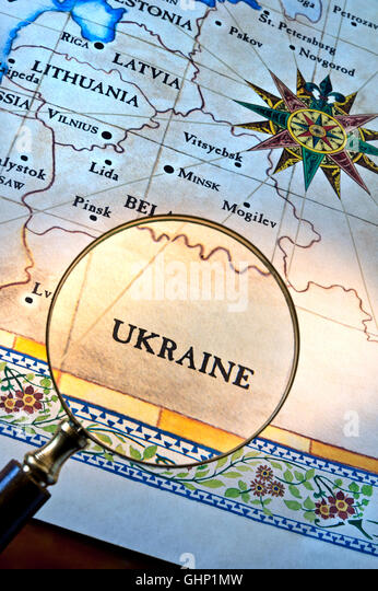 Ukraine Russia Map Stock Photos Ukraine Russia Map Stock Images - Map ukraine over us