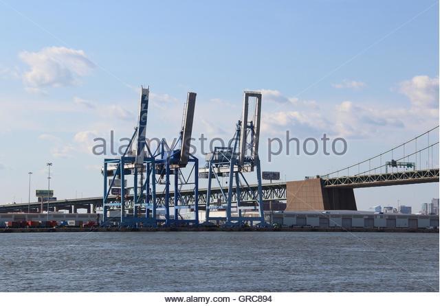Overhead Crane New Jersey : Loading bridge stock photos images
