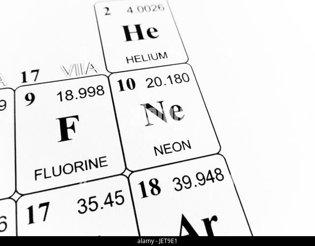 Relative atomic mass stock photos relative atomic mass stock neon on the periodic table of the elements stock image urtaz Image collections