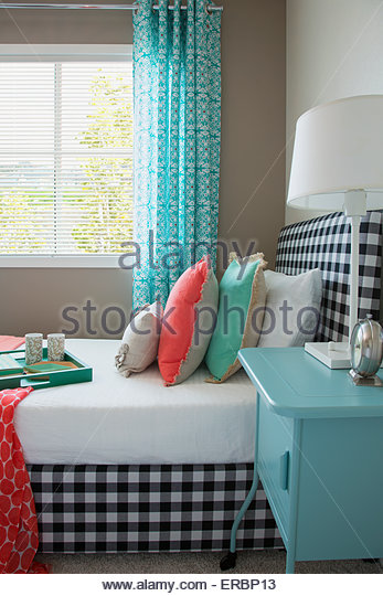 Gingham stock photos gingham stock images alamy for Seafoam green home decor
