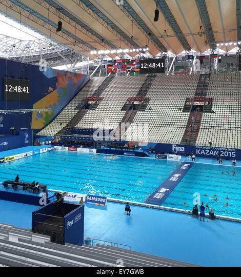 Kazan Russia 23rd July 2015 View Of The Swimming Pool In The Stock Photo Picture And