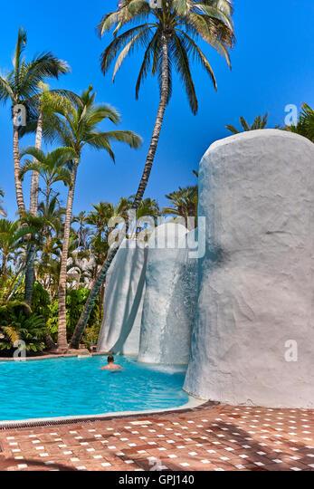 Stone walls on tropical stock photos stone walls on tropical stock images alamy - Jardines tropical tenerife ...