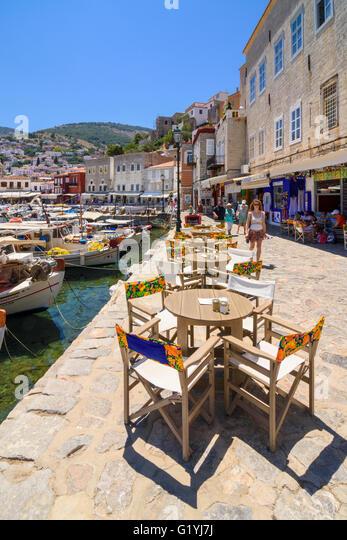 Hydra Greece Waterfront Stock Photos & Hydra Greece ...