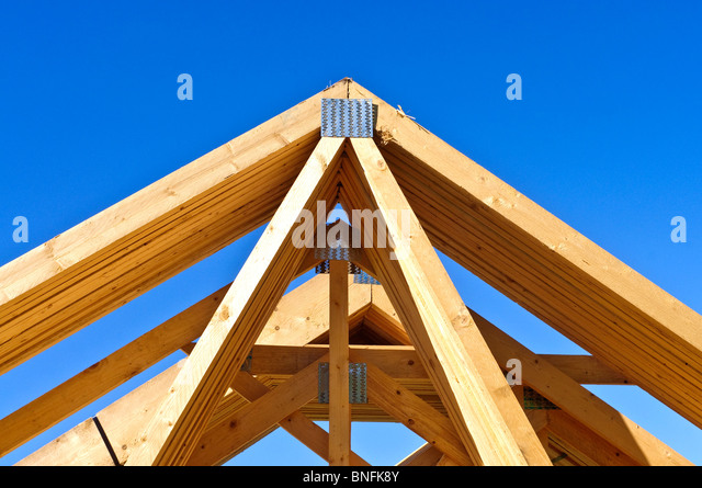 Prefabricated roof truss stock photos prefabricated roof for Prefabricated roof