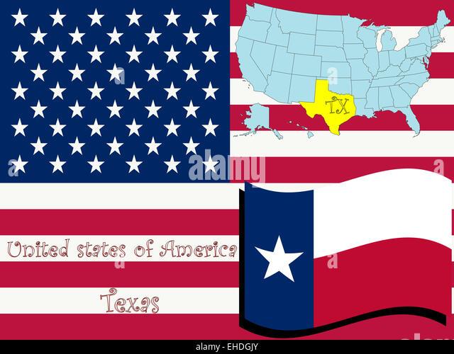 Texas State Ilration Stock Image