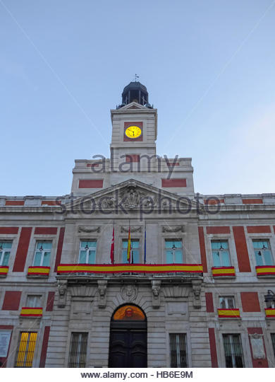 Madrid Puerta Del Sol New Year Stock Photos Madrid
