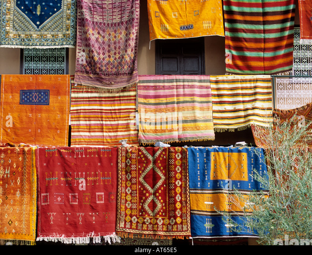 Rugs Fro Sale, Marrakesh, Morocco   Stock Image