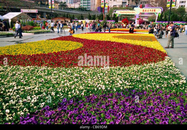 China, Hong Kong, Causeway Bay, Hong Kong Flower Show   Stock Image