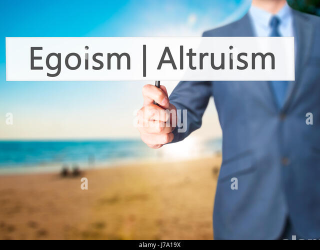 """egoism altruism So i want to break down the two major claims in the video to show how wrong  they are and how dangerous an embrace of """"egoistic altruism""""."""