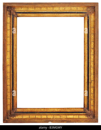 gold square picture frame stock image