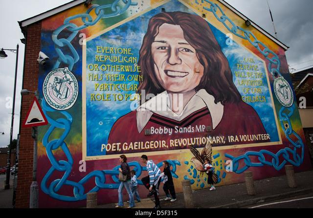 Mural belfast stock photos mural belfast stock images for Bobby sands mural belfast