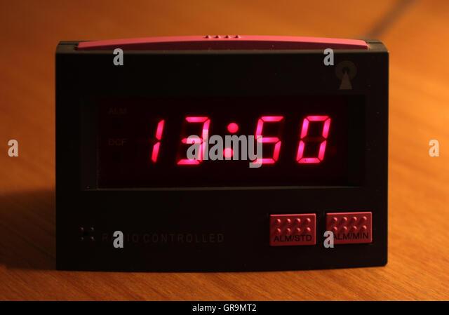 digital alarm clock stock photos digital alarm clock. Black Bedroom Furniture Sets. Home Design Ideas