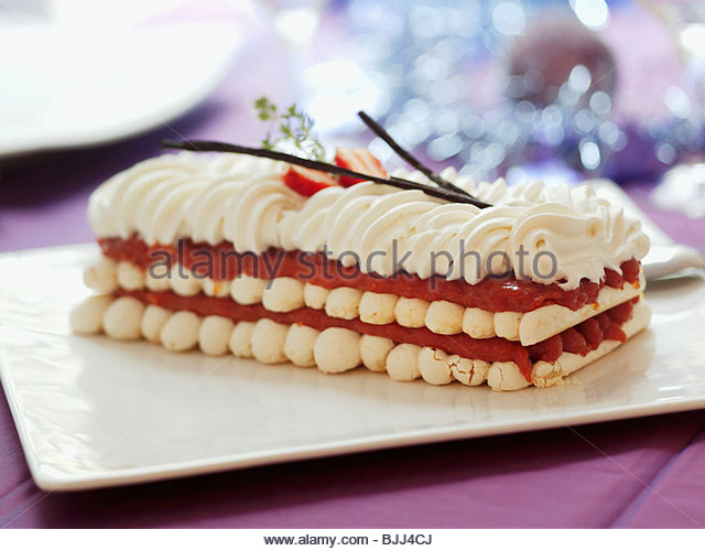 Layered Meringue Cake Stock Photos & Layered Meringue Cake ...