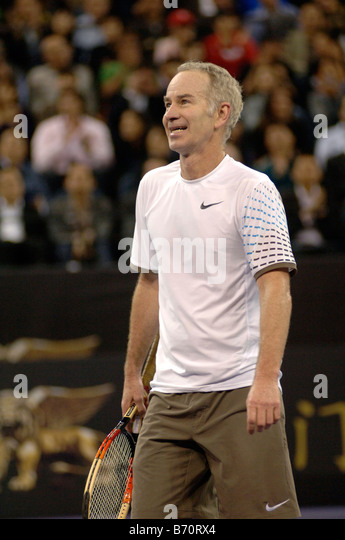 john mcenroe the venetian macao tennis showdown 2008 stock image