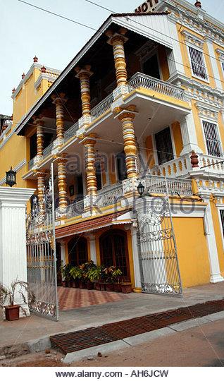 Pondicherry French Architecture Stock Photos Pondicherry French Archite