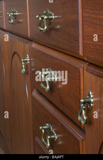 Close Up Of Antique Drawer Handles Stock Image