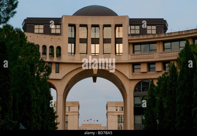 Antigone montpellier post modern architecture stock photos for Architecture post moderne