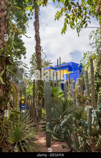 Jardin majorelle marrakech stock photos jardin majorelle for Jardin majorelle