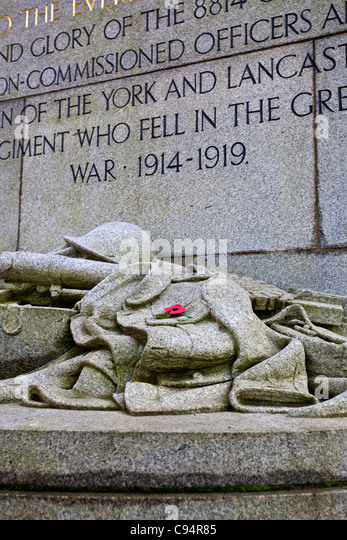 York and Lancaster Regiment WWI Memorial