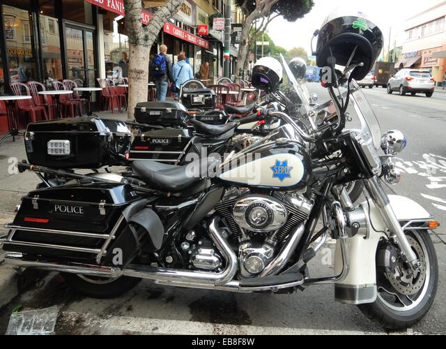san francisco police harley davidson stock photos & san francisco