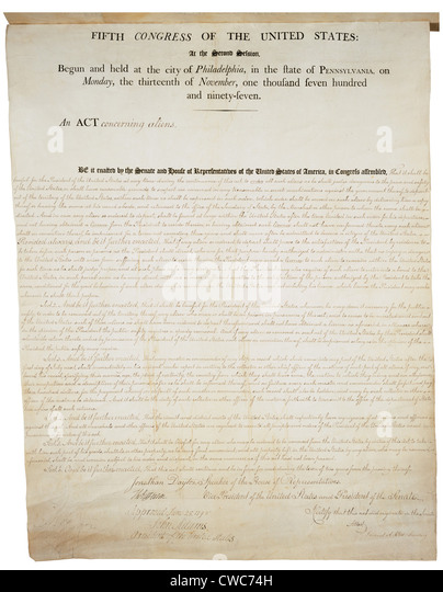 alien and sedition act 4 For the federalists, this was a blow that caused a severe setbacks to their cause  for john adams, the alien & sedition acts became the.