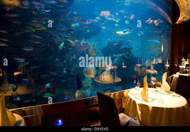 Burj Al Arab Hotel Aquarium Stock Photos Burj Al Arab