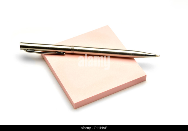 Silver Writing Pen On Colored Note Pad   Stock Image  Colored Writing Paper