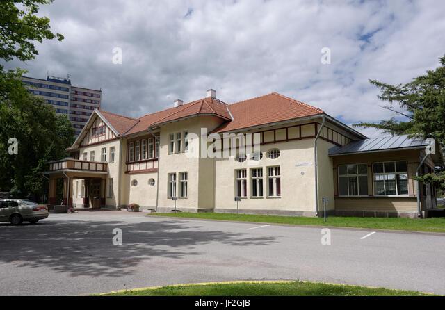 Language Centre of Estonian University of Life Sciences. Tartu 28th June 2017 - Stock Image