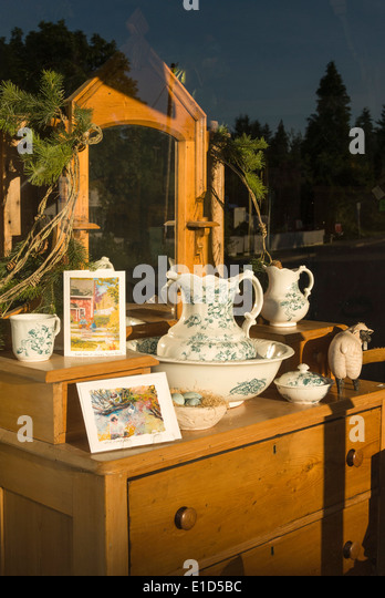 Elk203 1338v Canada British Columbia Fort Langley Glover Rd Antique Store