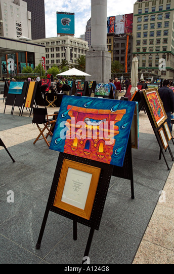 ... and sale in Union Square, San Francisco, California, USA - Stock Image