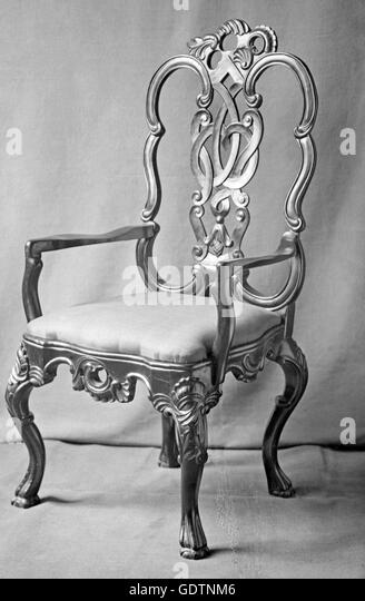 chippendale chair stock image