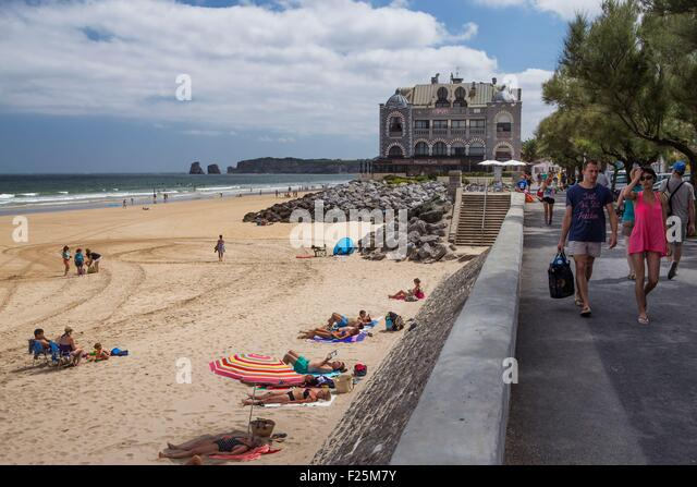 Beach hendaye basque country france stock photos beach for Hendaye france