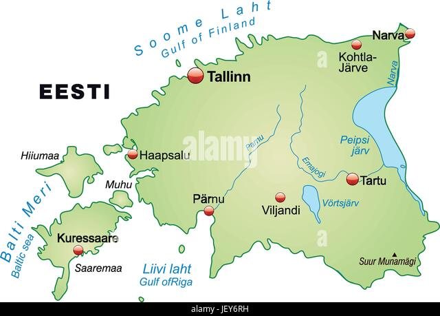 Map od estonia stock photos map od estonia stock images alamy card outline borders estonia atlas map of the world map gumiabroncs Images